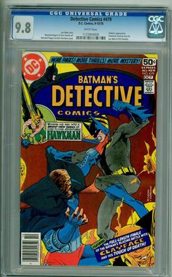 DETECTIVE 479 CGC 98 WHITE PAGES BATMAN 1978 MARSHALL ROGERS