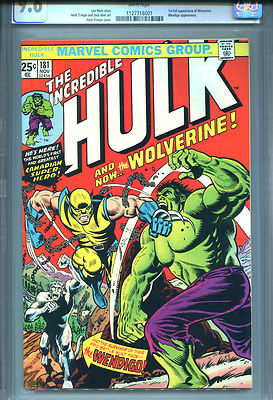The Incredible Hulk 181 1st Full Wolverine WHITE PAGES CGC 96