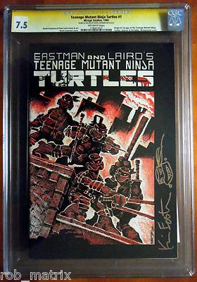 TEENAGE MUTANT NINJA TURTLES 1 1st PRINT CGC SS 75 SIGNED by KEVIN EASTMAN
