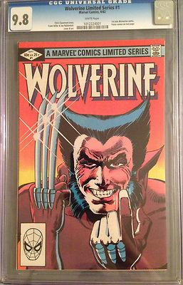 Wolverine Limited Series 1 1982 CGC 98 WP 1st solo Wolverine Yukio cameo Miller