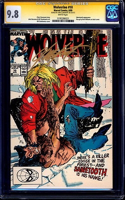 Wolverine 10 CGC SS 98 signed Chris Claremont  MOVIE vs Sabretooth NMMT