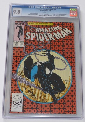 THE AMAZING SPIDERMAN 300  CGC Graded 98 White Pages  First Venom 1988 Mint