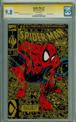 SPIDERMAN 1 CGC 98 SS GOLD STAN LEE SIGNATURE SERIES 1990