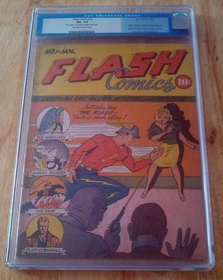 Flash Comics 1  FIRST GOLDEN AGE FLASH  HAWKMAN  CGC 35 UNRESTORED