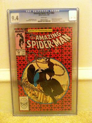 CGC Graded 94 The Amazing SpiderMan 300 May 1988 Black Suit Cover First Venom