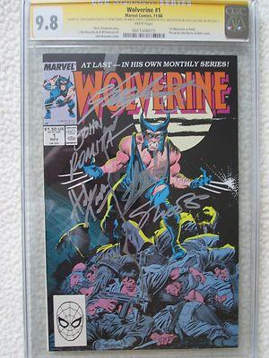 Wolverine 1 1988 CGC 98 SS X5 WP Stan Lee Claremont Romita Trimpe Shooter