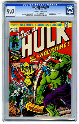 Incredible Hulk 181 CGC 90 1st Full Wolverine Marvel Bronze Age Comic Avengers
