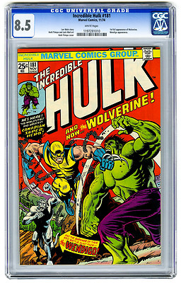 The Incredible Hulk 181 Nov 1974 Marvel CGC 85 1st Wolverine appearance