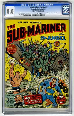 SubMariner Comics 1 CGC 80 Nazi WWII Schomburg Everett Timely Golden Age