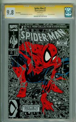 SPIDERMAN 1 CGC 98 SS SILVER STAN LEE SIGNATURE SERIES 1990