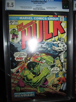 Incredible Hulk 180 1st Wolverine Comic CGC 85 Stan Lee Wendigo Marvel 181