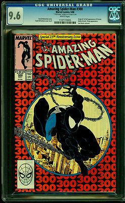 Amazing SpiderMan 300 CGC 96 1988 Key 1st App Venom  MacFarlane Art WHITE Pg