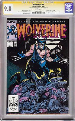 WOLVERINE 1 1ST PATCH 1988 CGC 98 SS Signed Chris Claremont  Len Wein