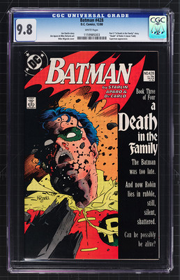 Batman 428 1989 part 3 of A Death in the Family storyline CGC 98 White Pages