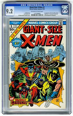 Giant Size XMen 1 CGC 92 1st New XMen 2nd Wolverine Marvel Bronze Age Comic