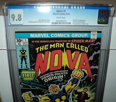 Nova 1 CGC 98 WHITE Pages Origin1st Appearance Nova 1976 id 8653