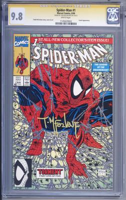 SpiderMan 1 SS CGC 98 Todd McFarlane Signature Series 1990