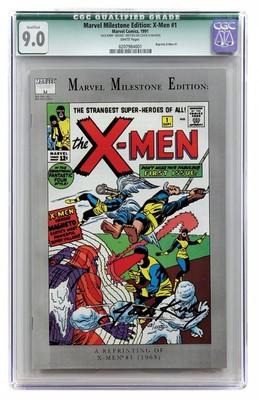Marvel Comics Milestone Edition XMen 1 1991 Signed Jack Kirby CGC 90