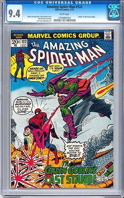 Amazing SpiderMan 122 CGC 94 W1973 Marvel Comics Death of Green Goblin