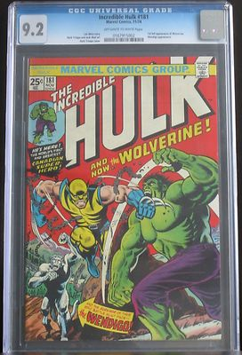 THE INCREDIBLE HULK 181 CGC 92 Nov 1974 Marvel 1ST APPEARANCE OF WOLVERINE