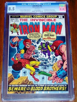 Iron Man 55  1st appearance of THANOS from 1973 by Jim Starlin  CGC 85 NICE