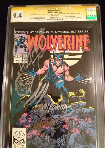 WOLVERINE 1 NM 1988 CGC 94 SS Signed By Romita Claremont Sketch By Trimpe