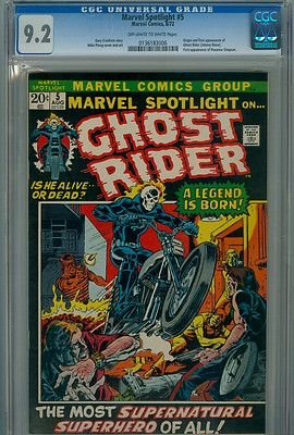 Marvel Spotlight 5 CGC 92 OWW pages 1972 Bronze Age First Ghost Rider