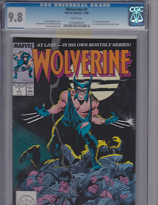 Wolverine 1 98 CGC 1988 Classic Cover Free Shipping Available