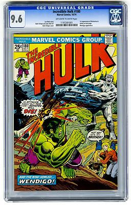 Incredible Hulk 180 CGC 96 1st Wolverine Cameo Marvel Bronze Age Avengers