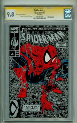 SPIDERMAN 1 CGC 98 SS STAN LEE POLY BAGGED 1990 SILVER