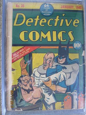 Detective Comics 35 Rare Batman 10 Restored CGC Mint Case only 30 Graded DC