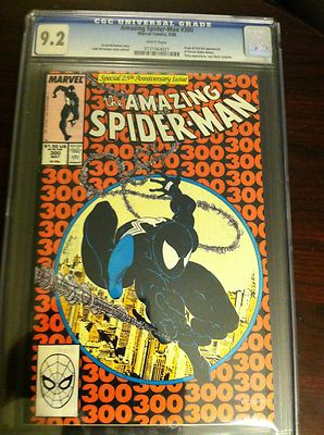 The Amazing SpiderMan 300 May 1988 Marvel CGC 92 First Venom No RES