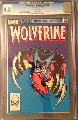 Wolverine Limited Series 2 1982 CGC 98 WP 1st full Yukio appearance Miller