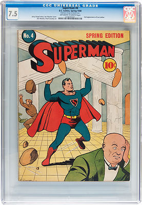 Superman 4 CGC 75 VF OWW DC 1940 1st Lex Luthor in Title 2nd overall