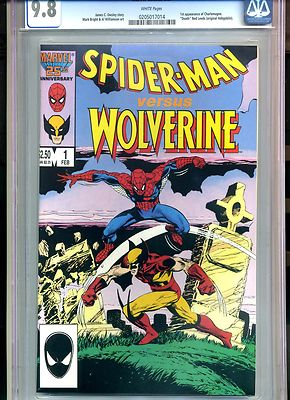 SPIDERMAN VS WOLVERINE 1 CGC 98 1ST PRINT MARVEL COMICS 1987