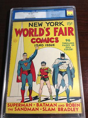 New York Worlds Fair Comics 1940 CGC 60 FIRST EVER SUPERMAN BATMAN together