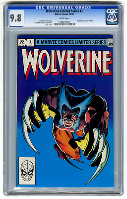 Wolverine Limited Series 2 CGC 98 Frank Miller Marvel Copper Age Comic XMen
