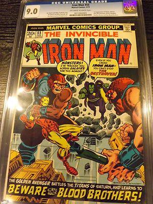 Iron Man 55 90 CGC 1st Thanos White pages
