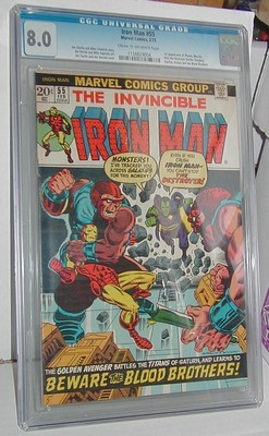 Iron Man    55   1973  1st Thanos   Drax  CGC Certified