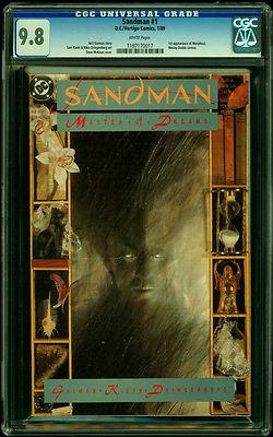 Sandman 1 CGC 98 1989 Key  1st App Morpheus WHITE Pages