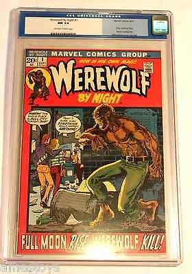RARE VINTAGE Werewolf by Night 1 1972  CGC 94 White pages First issue
