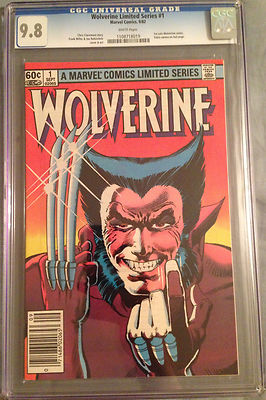 Wolverine Limited Series 1 1982 CGC 98 WP 1st solo Wolverine Yukio cameo Miller
