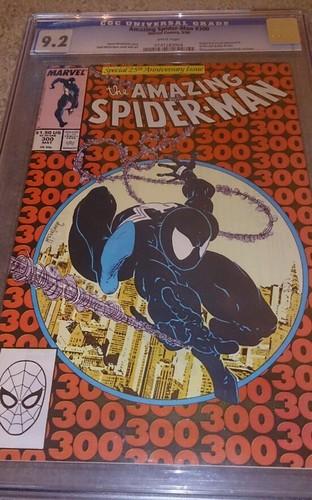 AMAZING SPIDERMAN 300 CGC 92  Todd McFarlane Cover  Art May 1988 Marvel