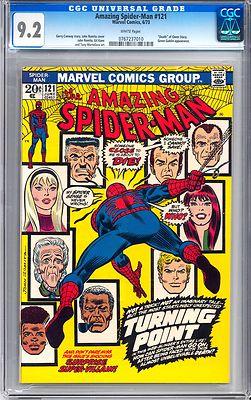 Amazing SpiderMan 121 CGC 92 W1973 Marvel Comics Death of Gwen Stacy