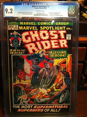 MARVEL SPOTLIGHT 5 1972  CGCGRADED 92  1ST GHOST RIDER  NO RESERVE