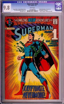 SUPERMAN  233 CGC 98 NMMT WHITE PAGES HIGHEST GRADED COPY 1 OF 1