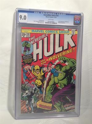 Marvel Comics The Incredible Hulk and now the Wolverine NOV No 181 CGC 90