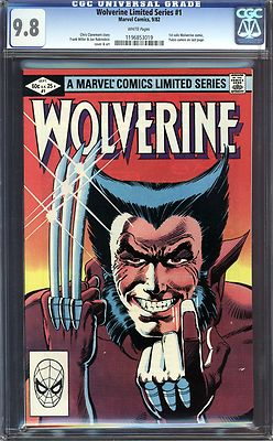 WOLVERINE LIMITED  1 CGC 98 WHITE PAGES
