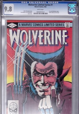 WOLVERINE LIMITED SERIES CGC 98 WHITE PAGES