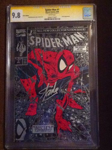 SpiderMan  1 Silver Cover CGC 98 1990 White Pages 0006177010 SS Stan Lee